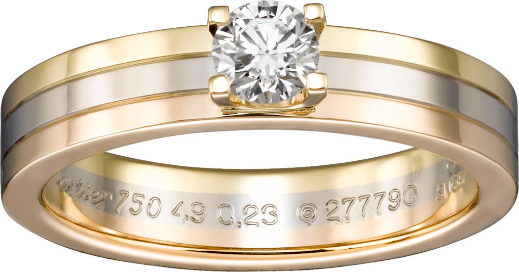 Trinity SolitaireWhite gold, yellow gold, pink gold, diamond