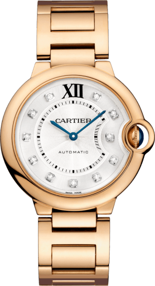 Ballon Bleu de Cartier watch 36mm, automatic movement, rose gold, diamonds