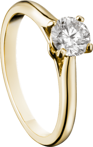 Solitaire 1895 Yellow gold, diamond