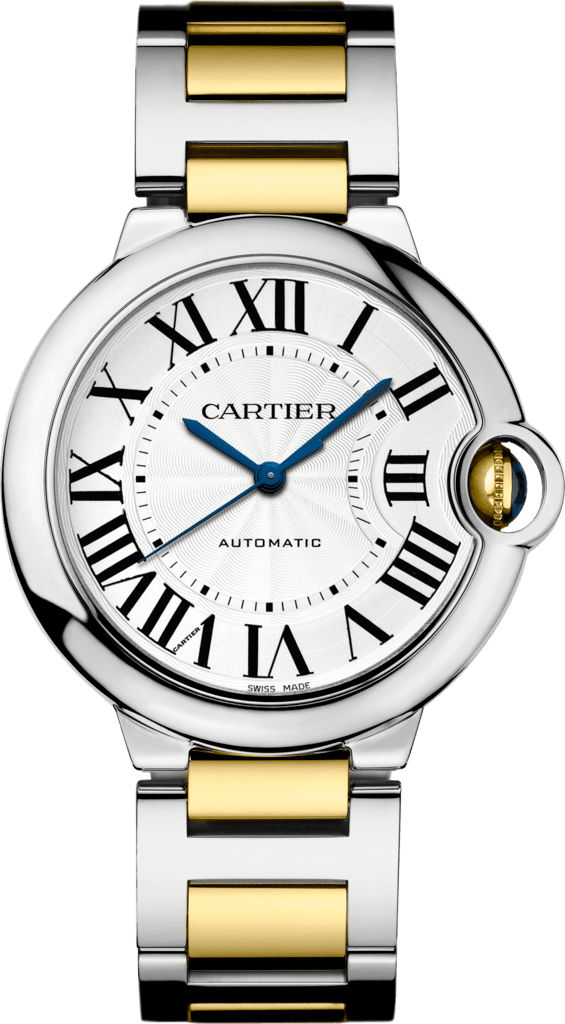 Ballon Bleu de Cartier watch36mm, automatic movement, yellow gold, steel
