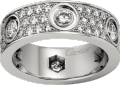<span class='lovefont'>A </span> ring, diamond-paved White gold, diamonds