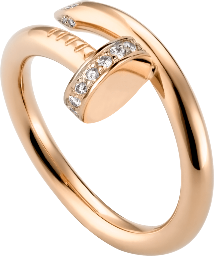 Juste un Clou ringPink gold, diamonds