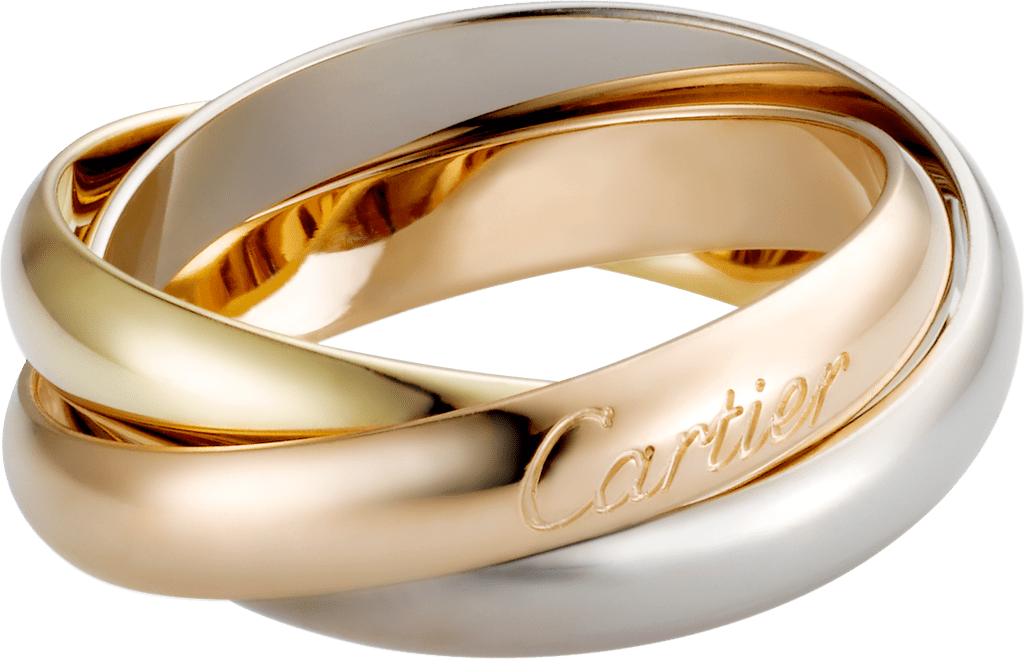 Trinity ring, classicWhite gold, yellow gold, pink gold