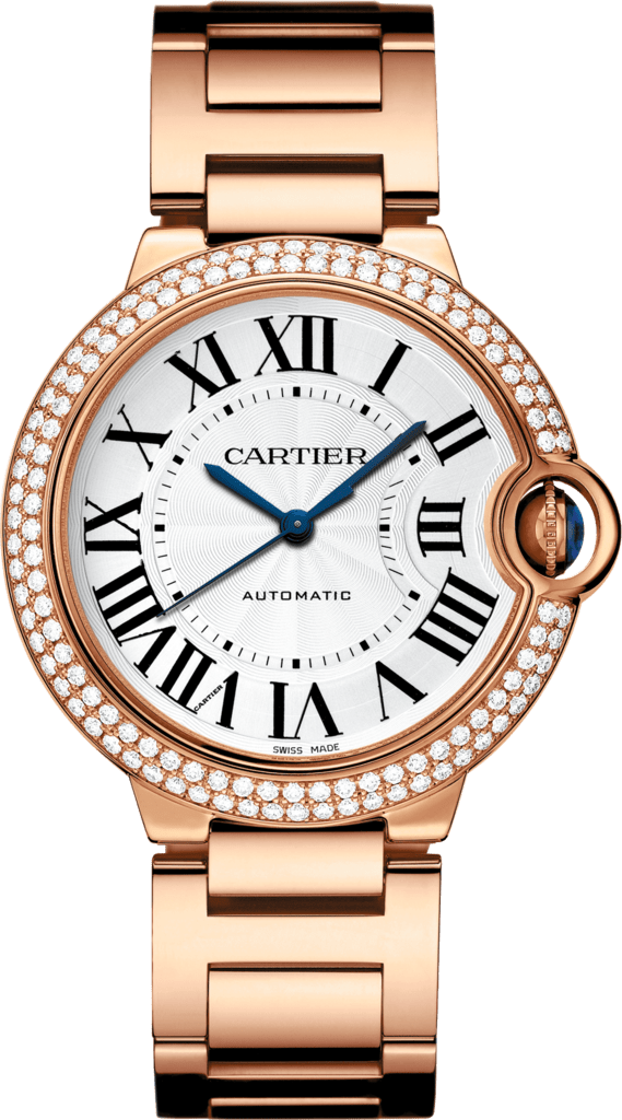 Ballon Bleu de Cartier watch36 mm, 18K pink gold, diamonds