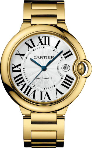 Ballon Bleu de Cartier watch 42 mm, 18K yellow gold, sapphire