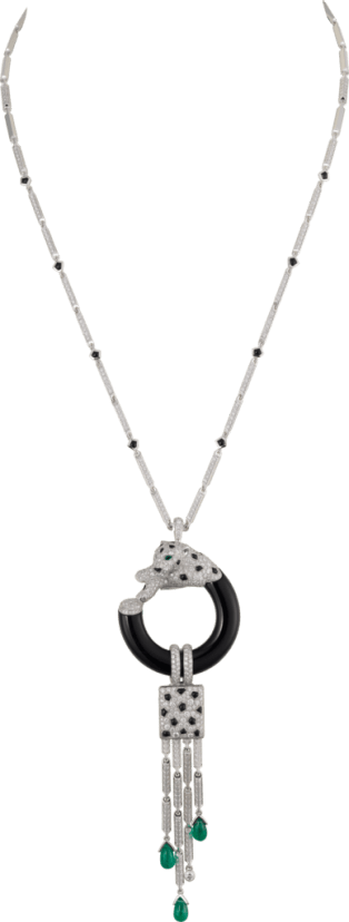 Panthère de Cartier necklace White gold, emeralds, onyx, diamonds