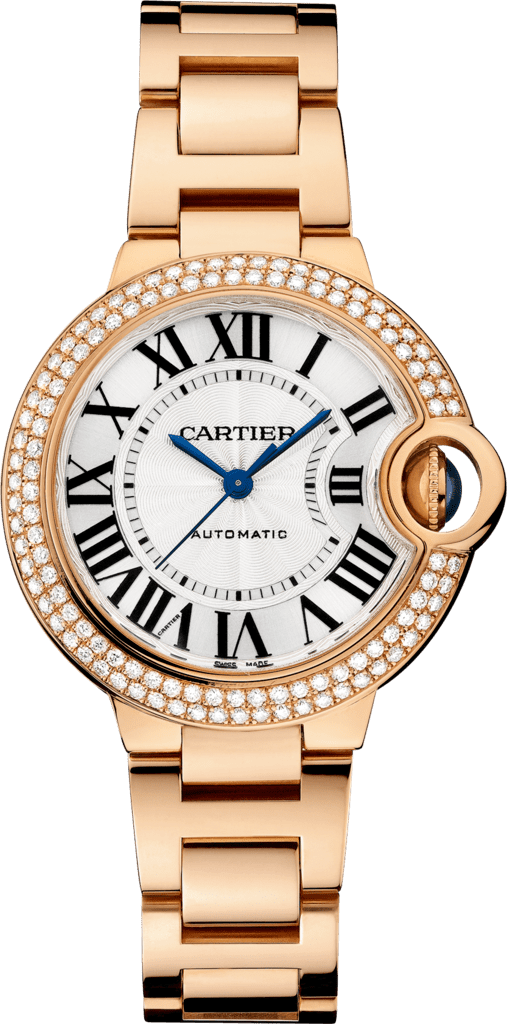 Ballon Bleu de Cartier watch33 mm, 18K pink gold, diamonds