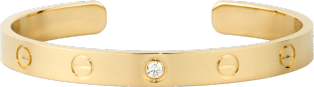 <span class='lovefont'>A </span> bracelet, 1 diamond Yellow gold, diamond