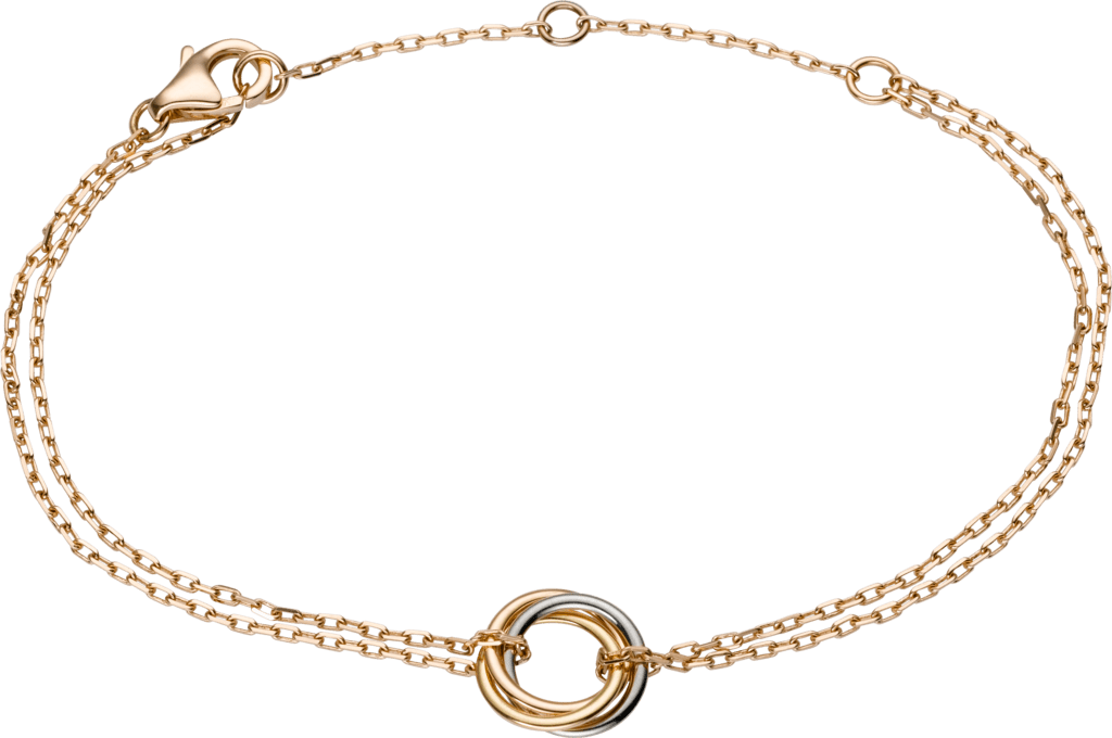 Trinity braceletWhite gold, yellow gold, pink gold