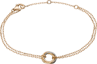 Trinity bracelet White gold, yellow gold, pink gold