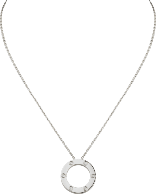 <span class='lovefont'>A </span> necklace, 6 diamonds White gold, diamonds