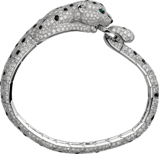 Panthère de Cartier bracelet Platinum, emeralds, onyx, diamonds