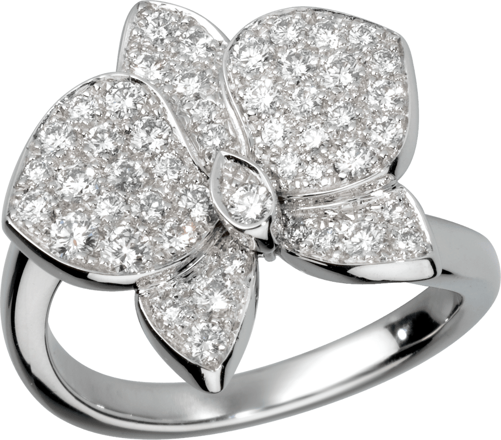 Caresse d'Orchidées par Cartier ringWhite gold, diamonds