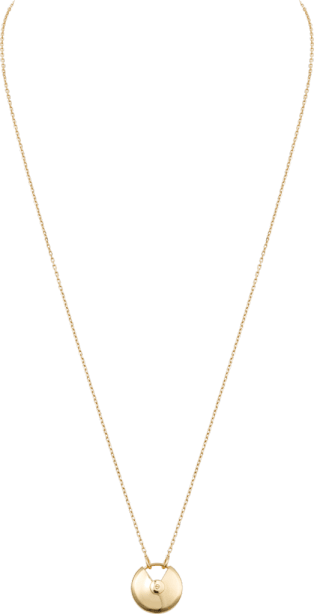 Amulette de Cartier necklace, small model Yellow gold, white mother-of-pearl, diamond