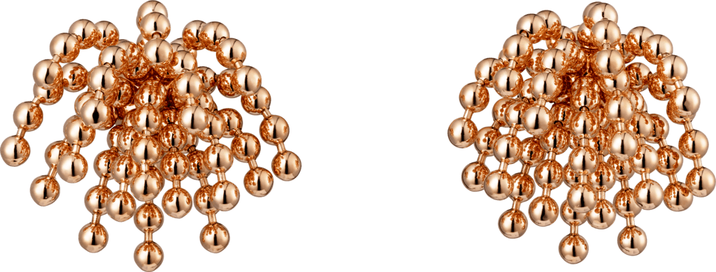 Paris Nouvelle Vague earringsPink gold