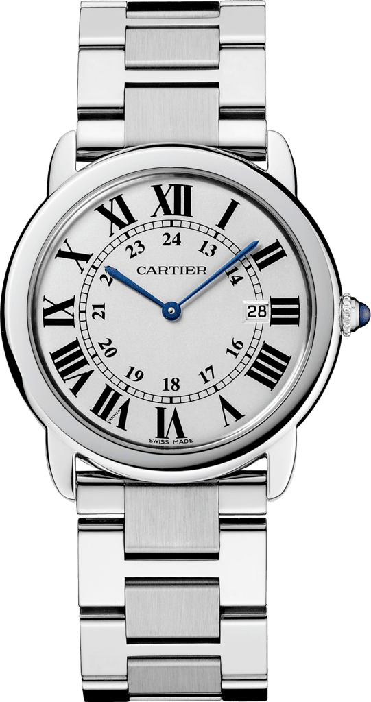 Ronde Solo de Cartier watch36mm, quartz movement, steel