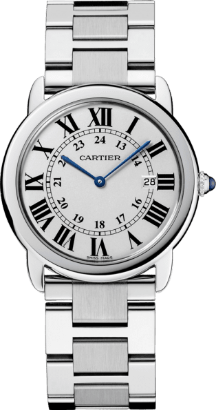 Ronde Solo de Cartier watch 36mm, quartz movement, steel
