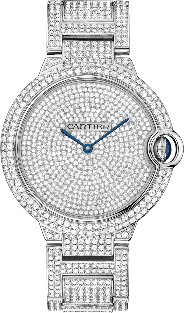 Ballon Bleu de Cartier watch42 mm, 18K white gold, diamonds