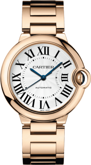 Ballon Bleu de Cartier watch 36 mm, 18K pink gold, sapphire