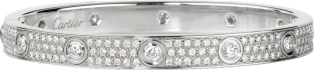 <span class='lovefont'>A </span> bracelet, diamond-paved White gold, diamonds