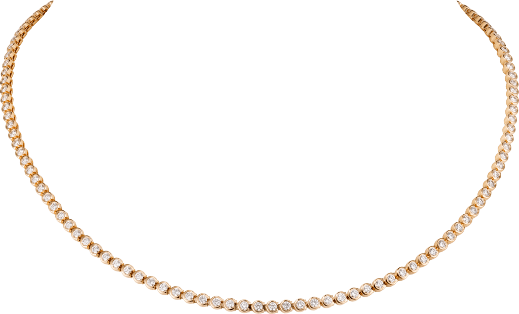 C de Cartier necklacePink gold, diamonds