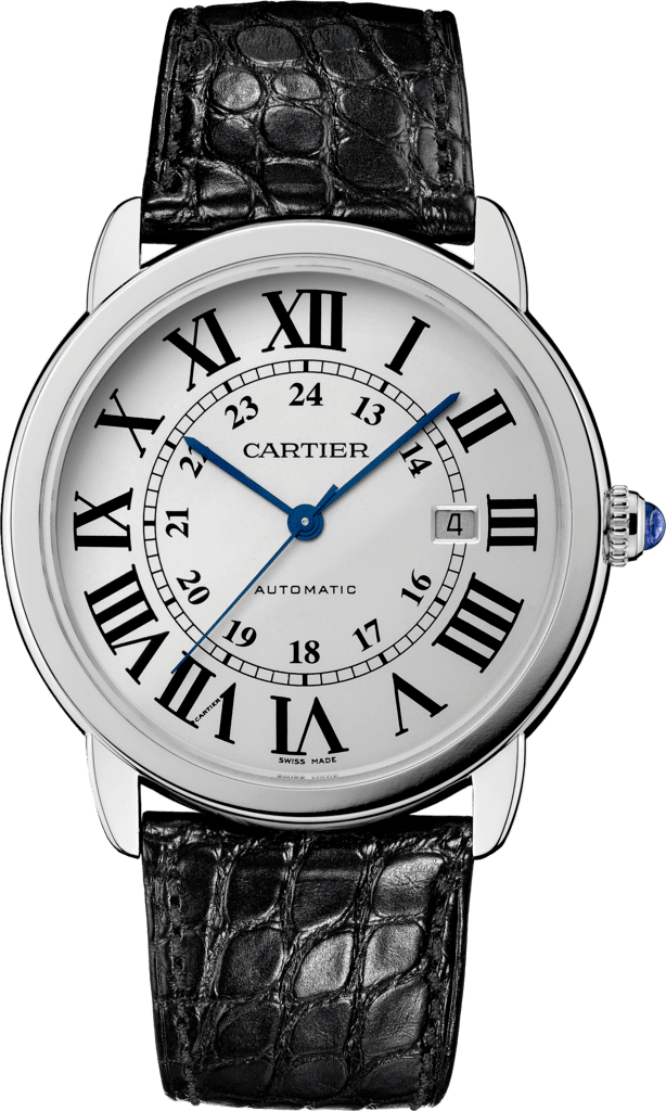 Ronde Solo de Cartier watch42 mm, steel, leather