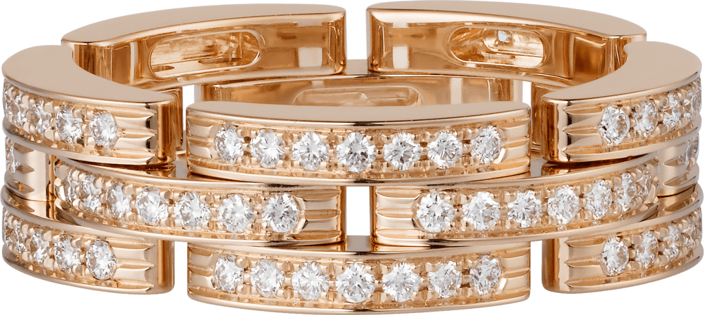 Maillon Panthère ringPink gold, diamonds