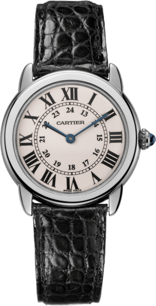 Ronde Solo de Cartier watch 29 mm, steel, leather