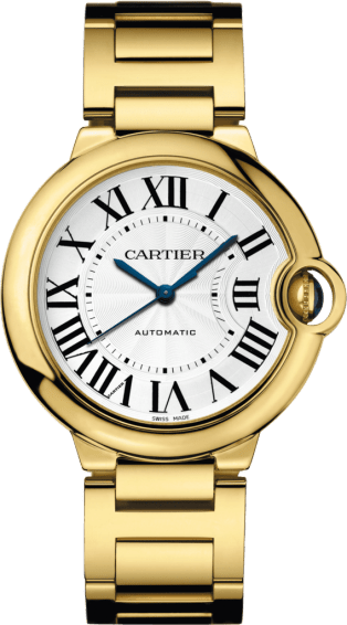 Ballon Bleu de Cartier watch 36 mm, 18K yellow gold, sapphire
