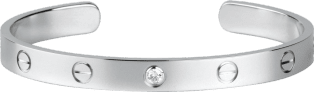 <span class='lovefont'>A </span> bracelet, 1 diamond White gold, diamond