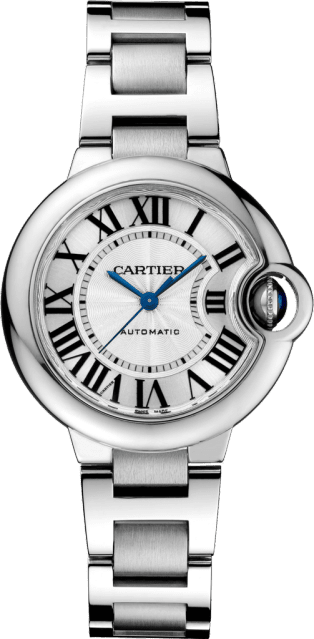 Ballon Bleu de Cartier watch 33mm, automatic movement, steel