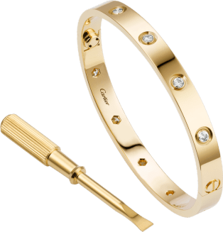 Love bracelet, 10 diamonds Yellow gold, diamonds