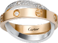 <span class='lovefont'>A </span> ring, diamond-paved Rose gold, white gold, diamonds