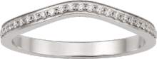 Ballerine wedding band Platinum, diamonds