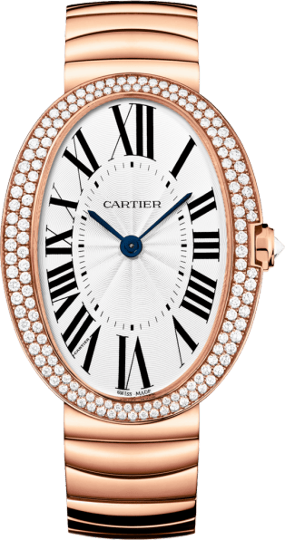 Baignoire watch, large model Large model, 18K pink gold, diamonds