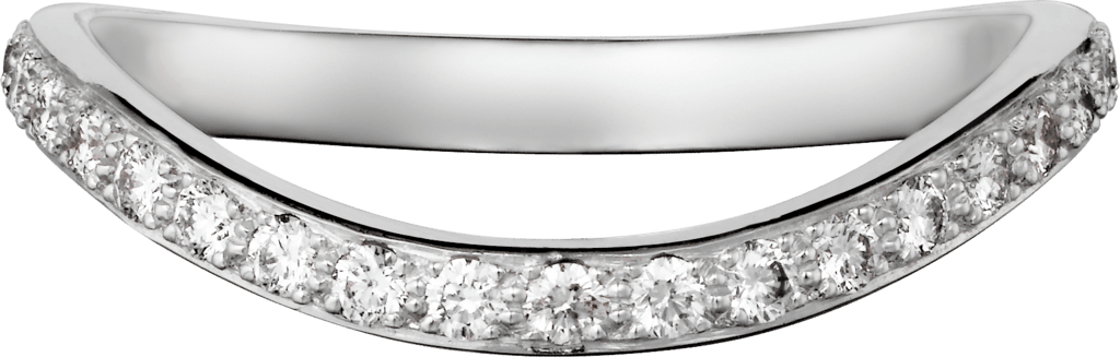 Trinity Ruban wedding bandPlatinum, diamond