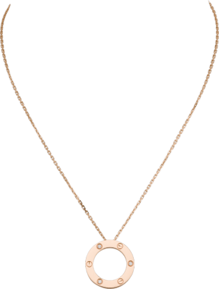<span class='lovefont'>A </span> necklace, 3 diamonds Pink gold, diamonds