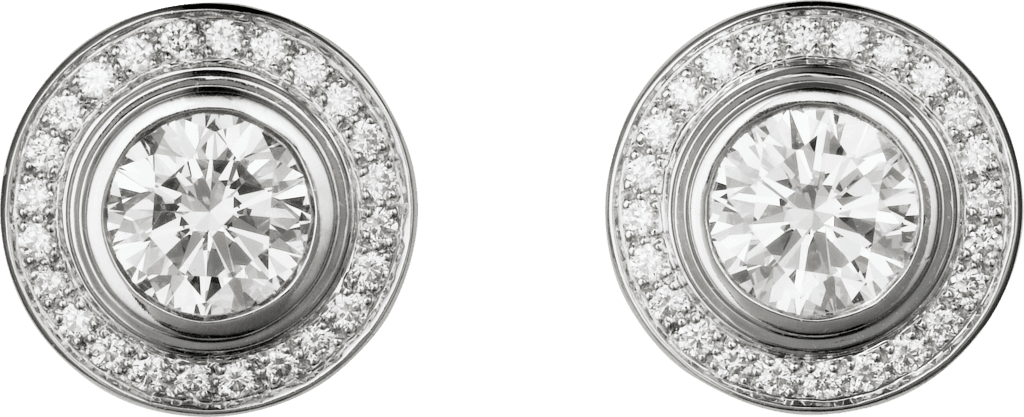 Cartier d'Amour earringsWhite gold, diamonds
