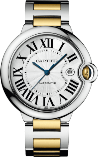 Ballon Bleu de Cartier watch 42 mm, 18K yellow gold, steel