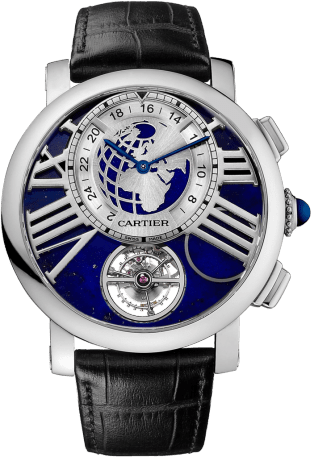 Rotonde de Cartier Earth and Moon watch 47 mm, manual, platinum