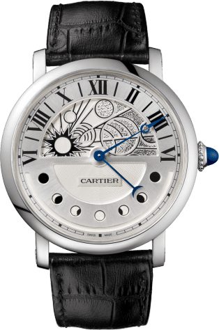 Rotonde de Cartier Day & Night watch 43.5 mm, automatic, palladium