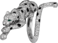 Panthère de Cartier ring White gold, emeralds, onyx, diamonds