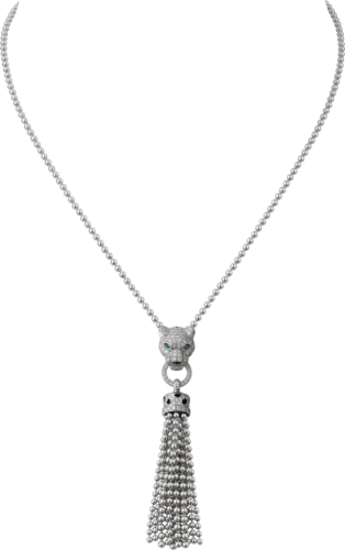 Panthère de Cartier necklace White gold, black lacquer, emeralds, onyx, diamonds