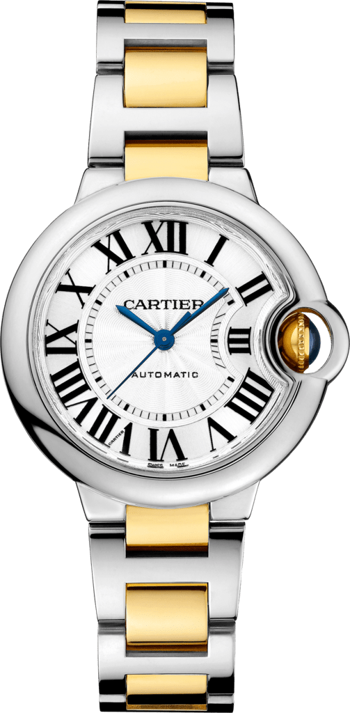 Ballon Bleu de Cartier watch33 mm, 18K yellow gold, steel