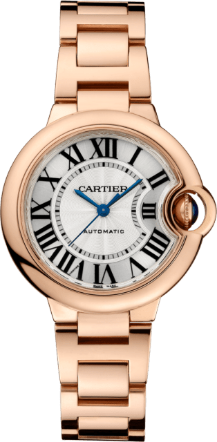 Ballon Bleu de Cartier watch 33 mm, 18K pink gold