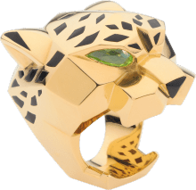 Panthère de Cartier ring Yellow gold, lacquer, peridots, onyx