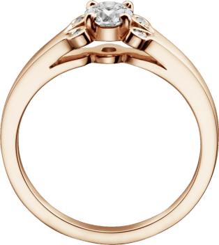 Ballerine Solitaire Pink gold, diamond