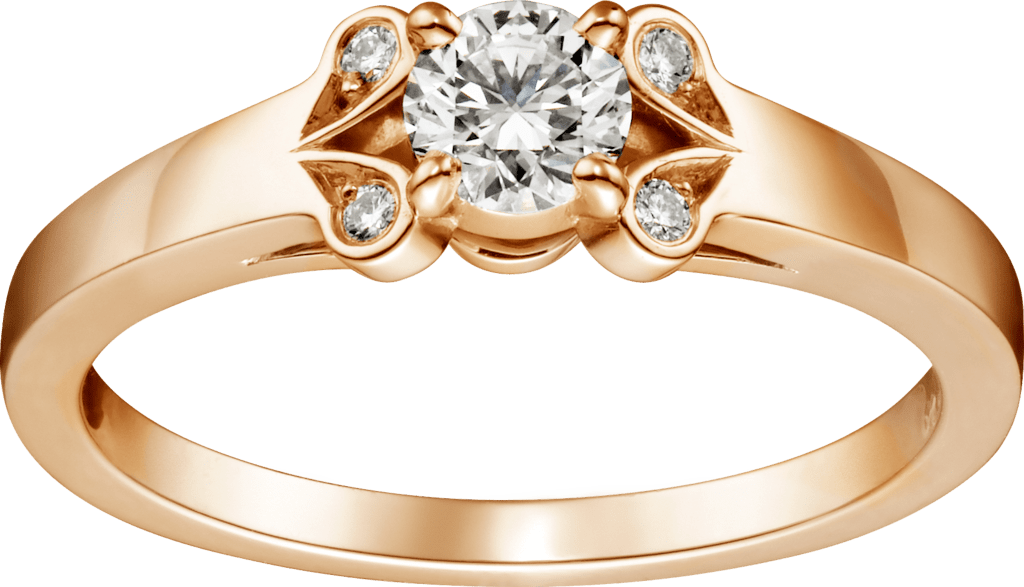 Ballerine SolitairePink gold, diamond