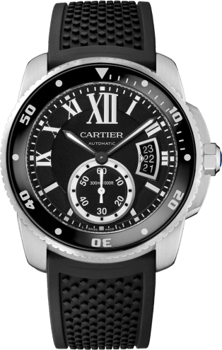 Calibre de Cartier Diver watch 42 mm, steel
