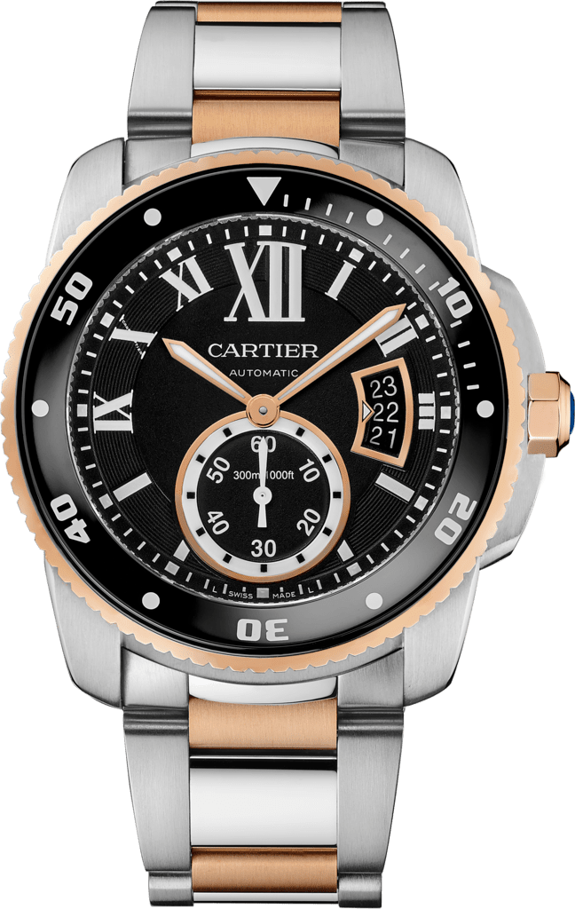Calibre de Cartier Diver watch42 mm, 18K pink gold, steel